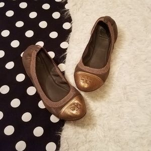Tory burch brown flats size 7.5 slip on shoes